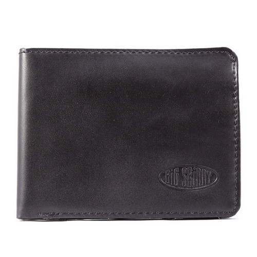 Black Holds Up to 25 Cards Big Skinny Mens RFID Blocking Tri-Fold Slim Wallet