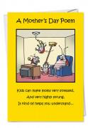 Moms Day Poem Card