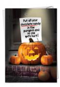Chocolate in Pumpkin Card