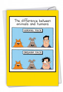 Animals And Humans Card
