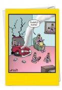 Crash Test Dummies at Home Card