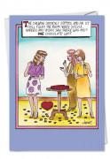 One Chocolate Left Card