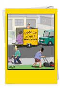 Mobile Manscaping Blank Card