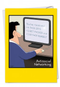 Antisocial Networking Card