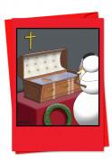 Snowman Coffin Card