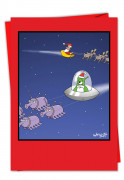 Alien Santa Card