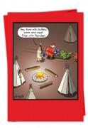Meet Flies With Reindeer Card