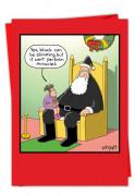 Santas Black Suit Card