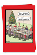 Weird Relative Christmas Greeting Card