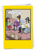 Condom Holes Card