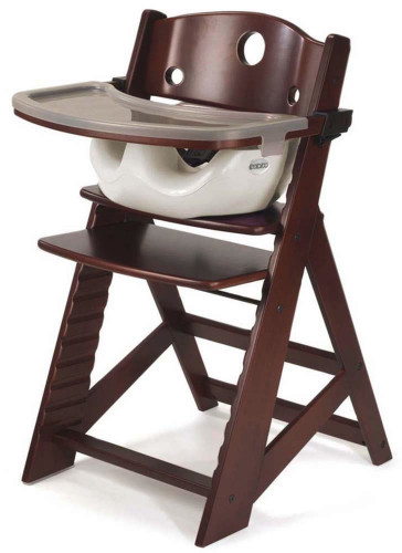 Keekaroo Height Right High Chair & Infant Insert - Mahogany / Vanilla