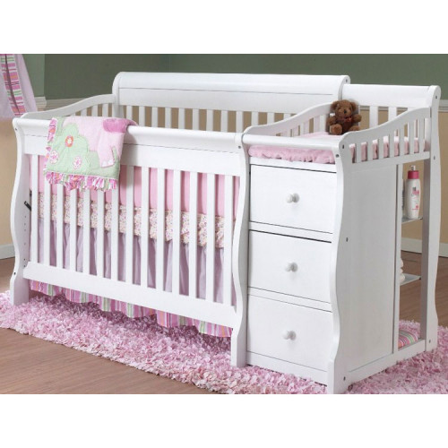 Sorelle Tuscany 4 in 1 Convertible Crib Combo in White
