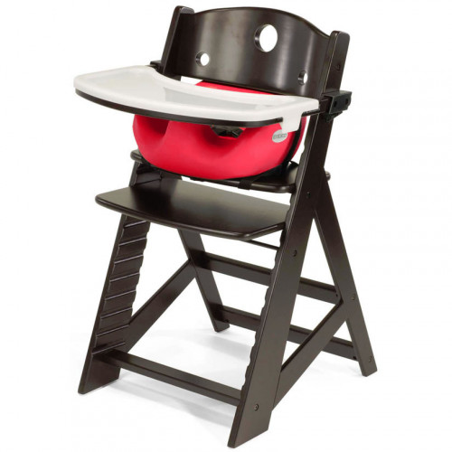 Keekaroo Height Right High Chair & Infant Insert - Espresso/Cherry