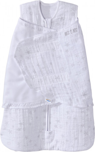 Halo SleepSack Quilted Muslin Swaddle - Constellation Grey (Small)