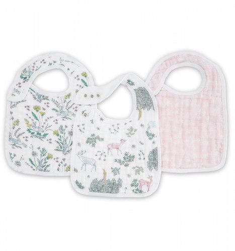 Aden + Anais Snap Bibs, 3 Pack - Forest Fantasy