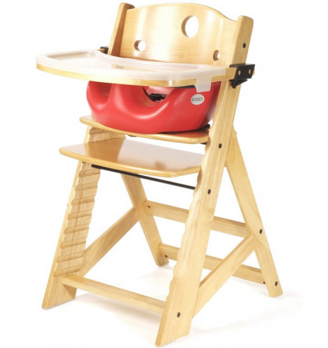 Keekaroo Height Right High Chair & Infant Insert - Natural/Cherry