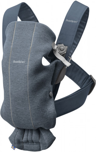 BabyBjorn Baby Carrier Mini, 3D Jersey - Dove Blue