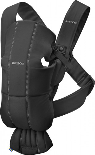 BabyBjorn Baby Carrier Mini, Cotton - Black