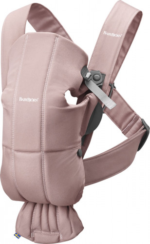 BabyBjorn Baby Carrier Mini, Cotton - Dusty Pink
