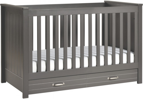 DaVinci Asher 3-in-1 Convertible Crib With Toddler Bed Conversion Kit in Slate Finish