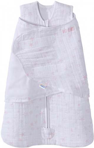 Halo SleepSack Quilted Muslin Swaddle - Constellation Pink (Small)