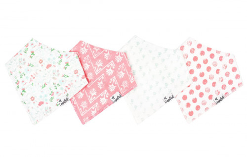 Copper Pearl Baby Bandana Bibs, 4 Pack - Claire