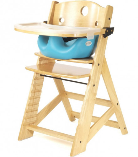 Keekaroo Height Right High Chair & Infant Insert - Natural/Aqua