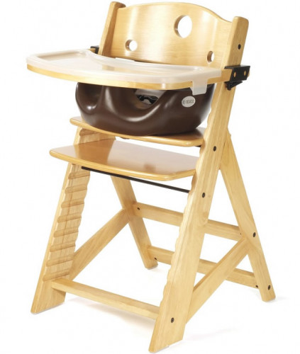 Keekaroo Height Right High Chair & Infant Insert - Natural/Chocolate