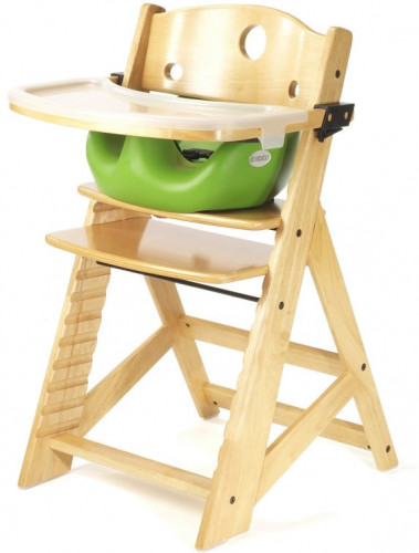 Keekaroo Height Right High Chair & Infant Insert - Natural/Lime