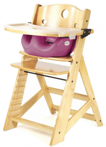 Keekaroo Height Right High Chair & Infant Insert - Natural / Raspberry