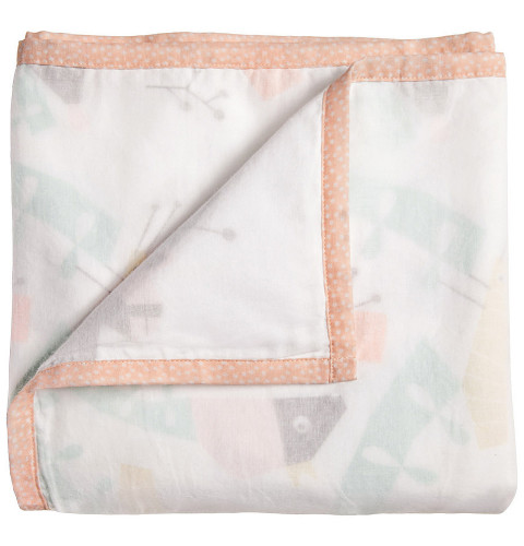 Nursery Works Menagerie 3-Layer Organic Muslin Blanket - Canopy