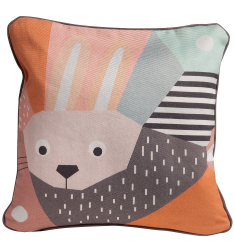 Nursery Works Menagerie Cubist Print Toddler Pillow - Rabbit