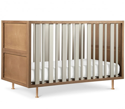 Nursery Works Novella Crib - Stained Ash / Ivory
