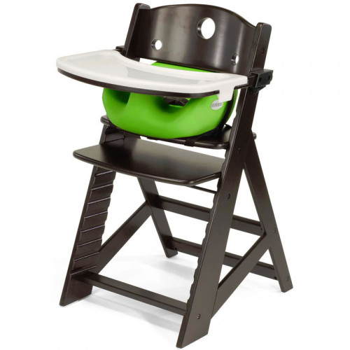 Keekaroo Height Right High Chair & Infant Insert - Espresso/Lime