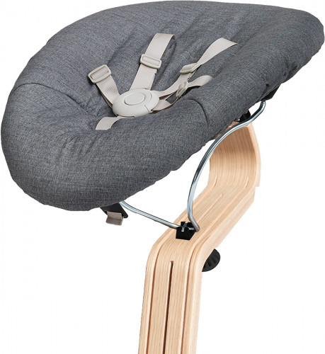 Nomi Baby Base 2.0 Bouncer - Black with Gray Cushion