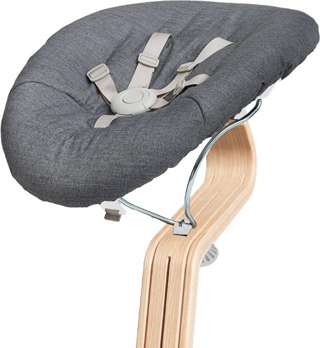 Nomi Baby Base 2.0 Bouncer - White with Gray Cushion