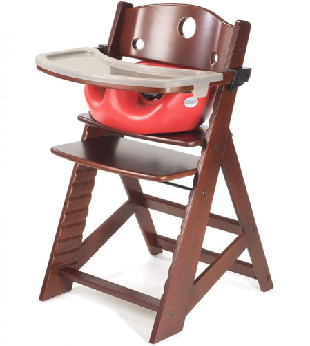 Keekaroo Height Right High Chair & Infant Insert - Mahogany/Cherry