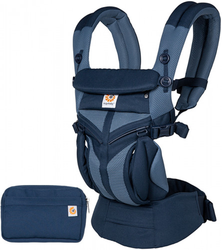 Ergobaby Omni 360 Cool Air Mesh Baby Carrier - Tones of Blue