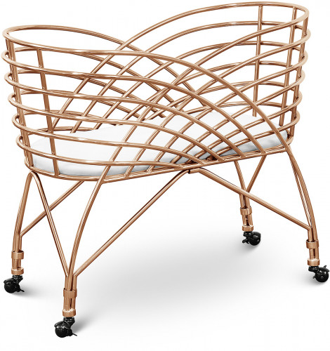 Nursery Works Aura Metal Bassinet - Rose Gold