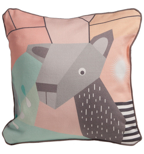 Nursery Works Menagerie Cubist Print Toddler Pillow - Deer
