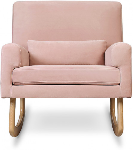 Nursery Works Sleepytime Rocker, Light Legs - Blush Velvet