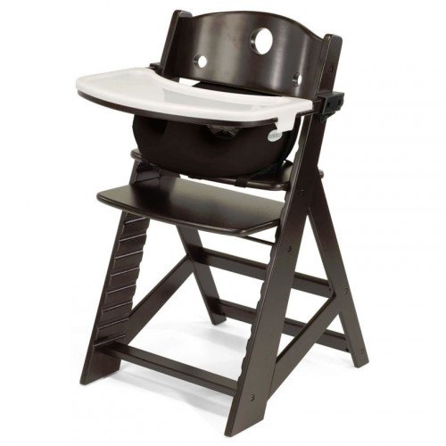 Keekaroo Height Right High Chair & Infant Insert - Espresso/Chocolate