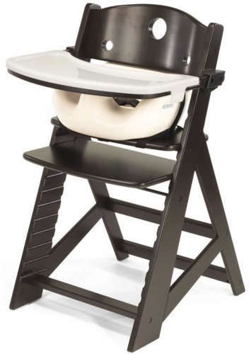 Keekaroo Height Right High Chair & Infant Insert - Espresso / Vanilla