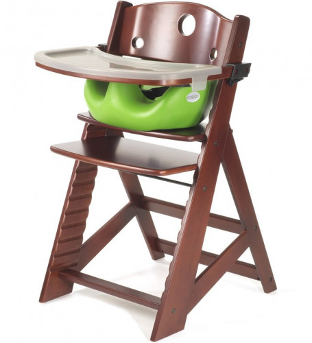 Keekaroo Height Right High Chair & Infant Insert - Mahogany/Lime
