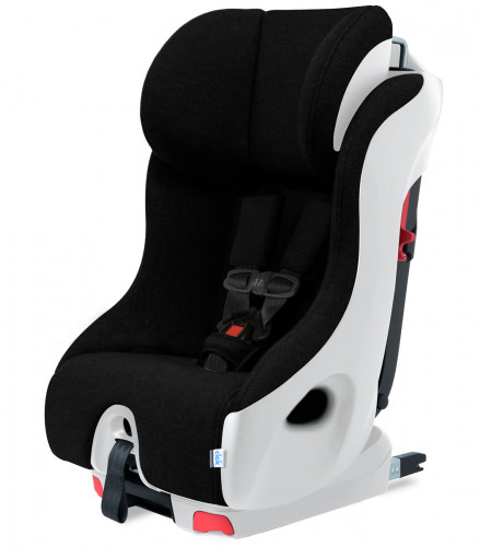 Clek Foonf Convertible Car Seat with Anti-Rebound Bar - White Carbon Jersey Knit (Albee Exclusive)