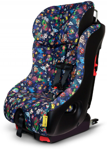 Clek Foonf Convertible Car Seat with Anti-Rebound Bar - Tokidoki Reef Rider (Jersey Knit)