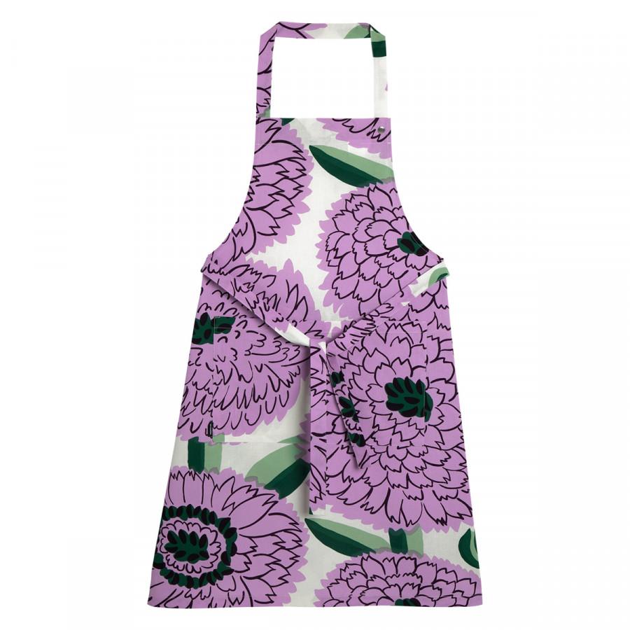 Marimekko Primavera White / Lilac / Green Apron
