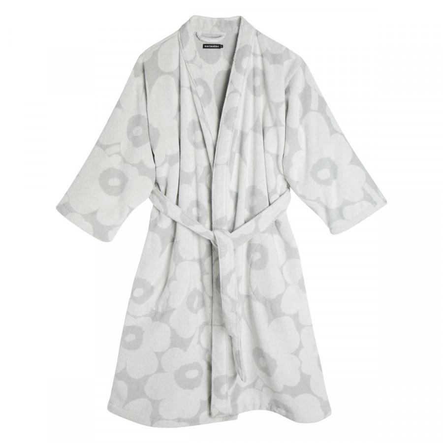 Marimekko Unikko Grey / Ivory Bath Robe