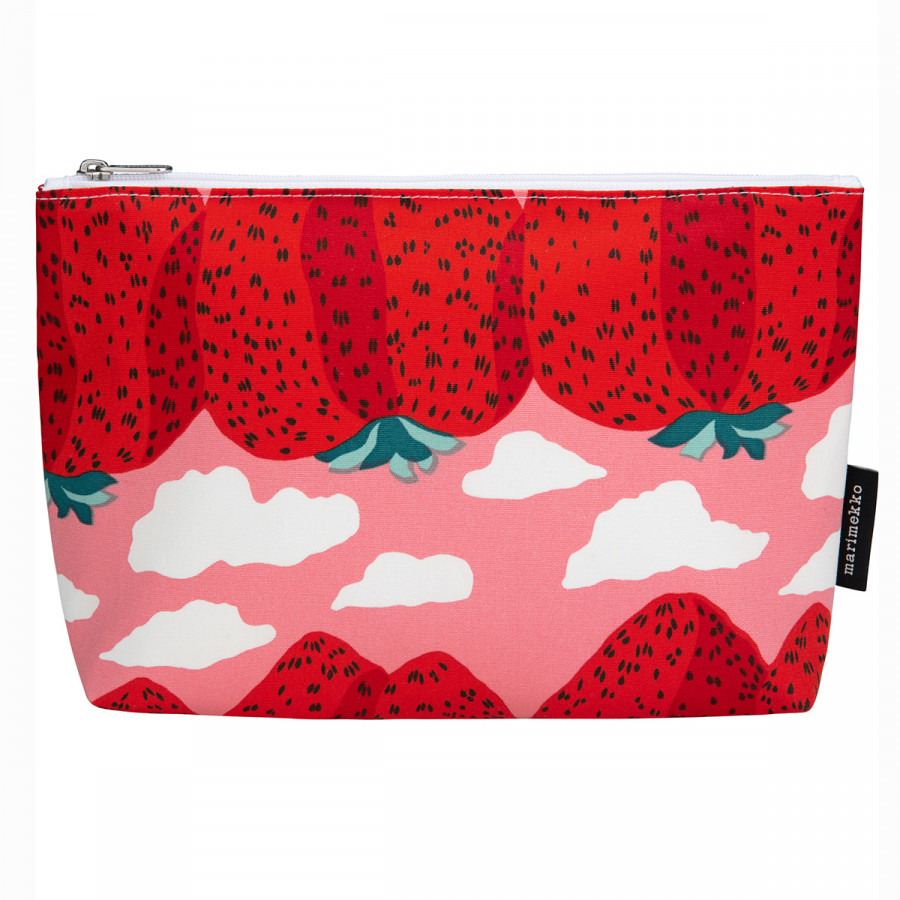 Marimekko Mansikkavuoret Pink / Red Relle Cosmetic Bag