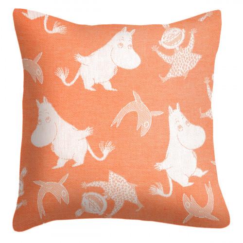 Ekelund Moomin Happy Orange Throw Pillow